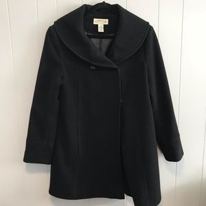 Orvis Black wool winter coat